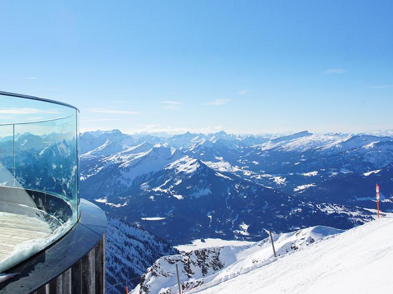 Blick über die Alpen vom Nebelhorn   Berggasthof Sonne Imberg in Sonthofen